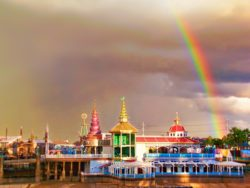 Rainbow over Paradise Pier Disneys California Adventure 1