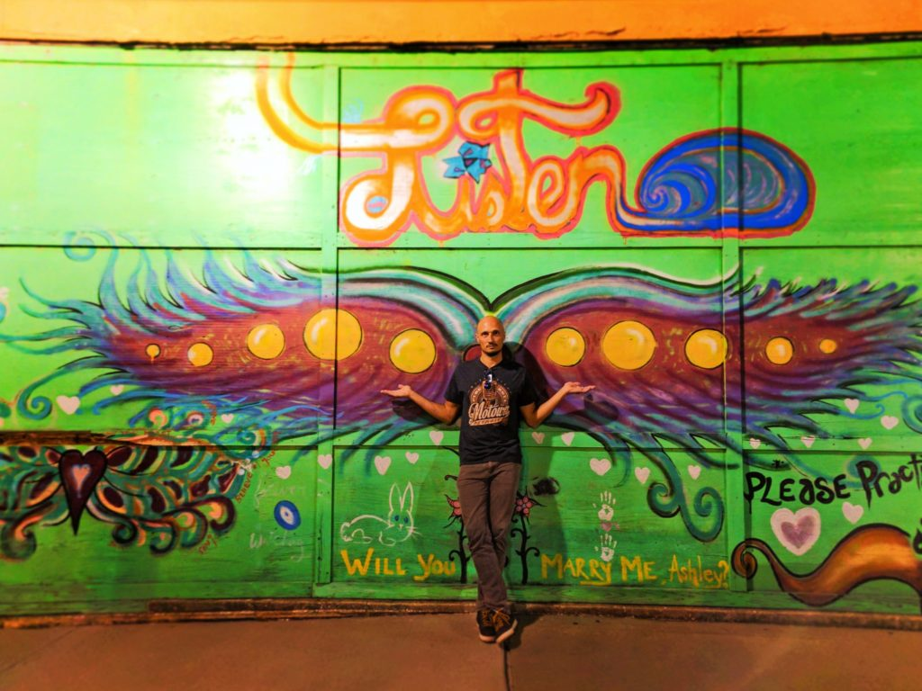 Rob Taylor in front of Wings Street Art in Mobile Alabama 1