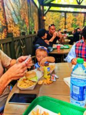 Taylor Family dining at Hungry Bear Cafe Critter Country Disneyland 1