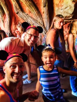 Taylor Family getting on Splash Mountain Critter Country Disneyland 1