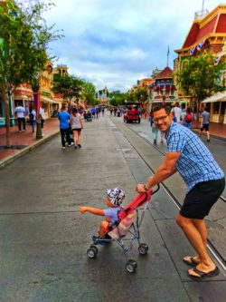 Taylor Family on Main Street USA Disneyland 2