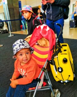 Taylor Family traveling to Disneyland for Cars 3 Premiere in SeaTax airport 2