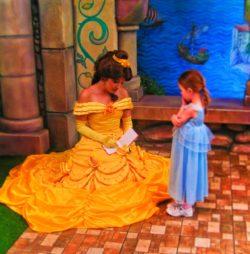 Belle at Fantasy Faire Fantasyland Disneyland 1