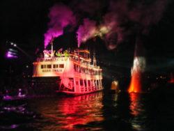Characters on Mark Twain Riverboat Fantasmic Disneyland 2