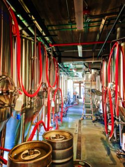 Cistern row in Lone Girl Brewing Co Waunakee Wisconsin 2
