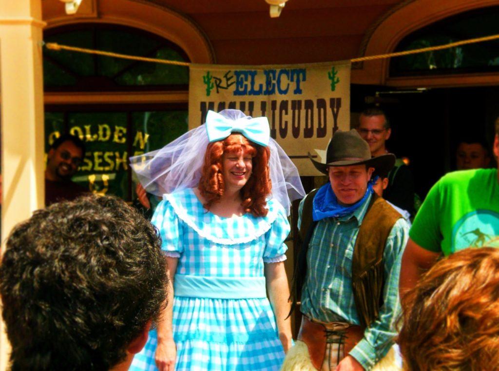 Cowboy Show in the Golden Horseshoe Frontierland Disneyland 1