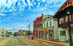 Driving on Main Street in Waunakee Wisconsin 2
