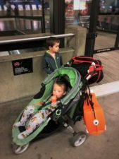 Taylor family with Trunki waiting at SeaTac Airport 1