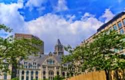 Old Buildings downtown Milwaukee Wisconsin 1