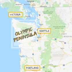 Olympic Peninsula map in relation to Seattle