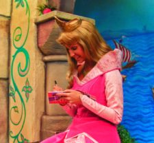 Sleeping Beauty at Fantasy Faire Fantasyland Disneyland 1