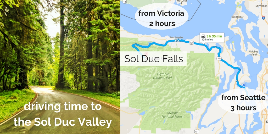 Sol Duc Falls Olympic National Park Map - 2 Travel Dads