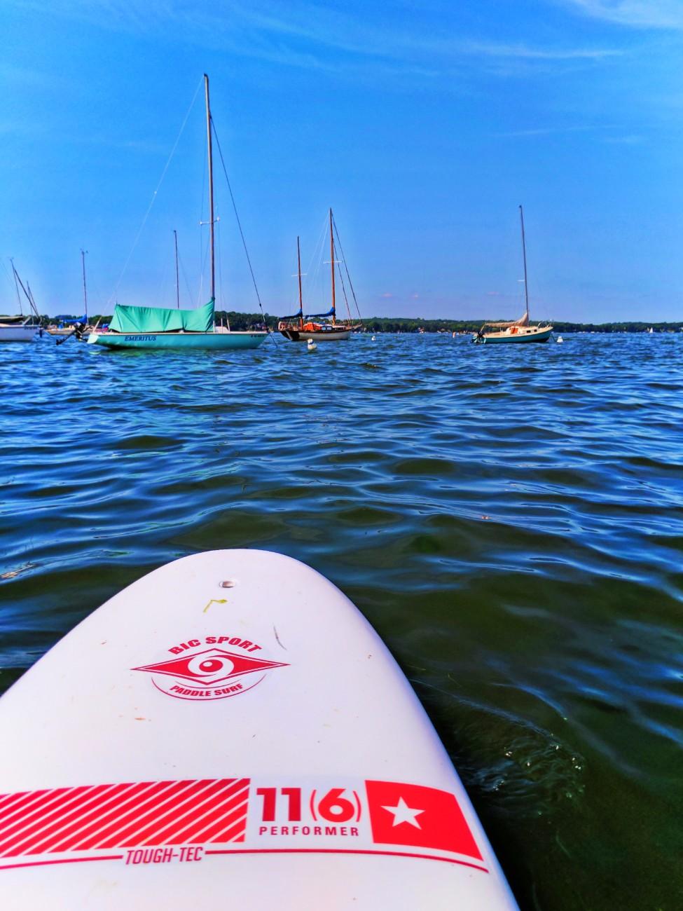 Stand Up Paddleboarding SUP on Lake Mendota Madison Wisconsin 1