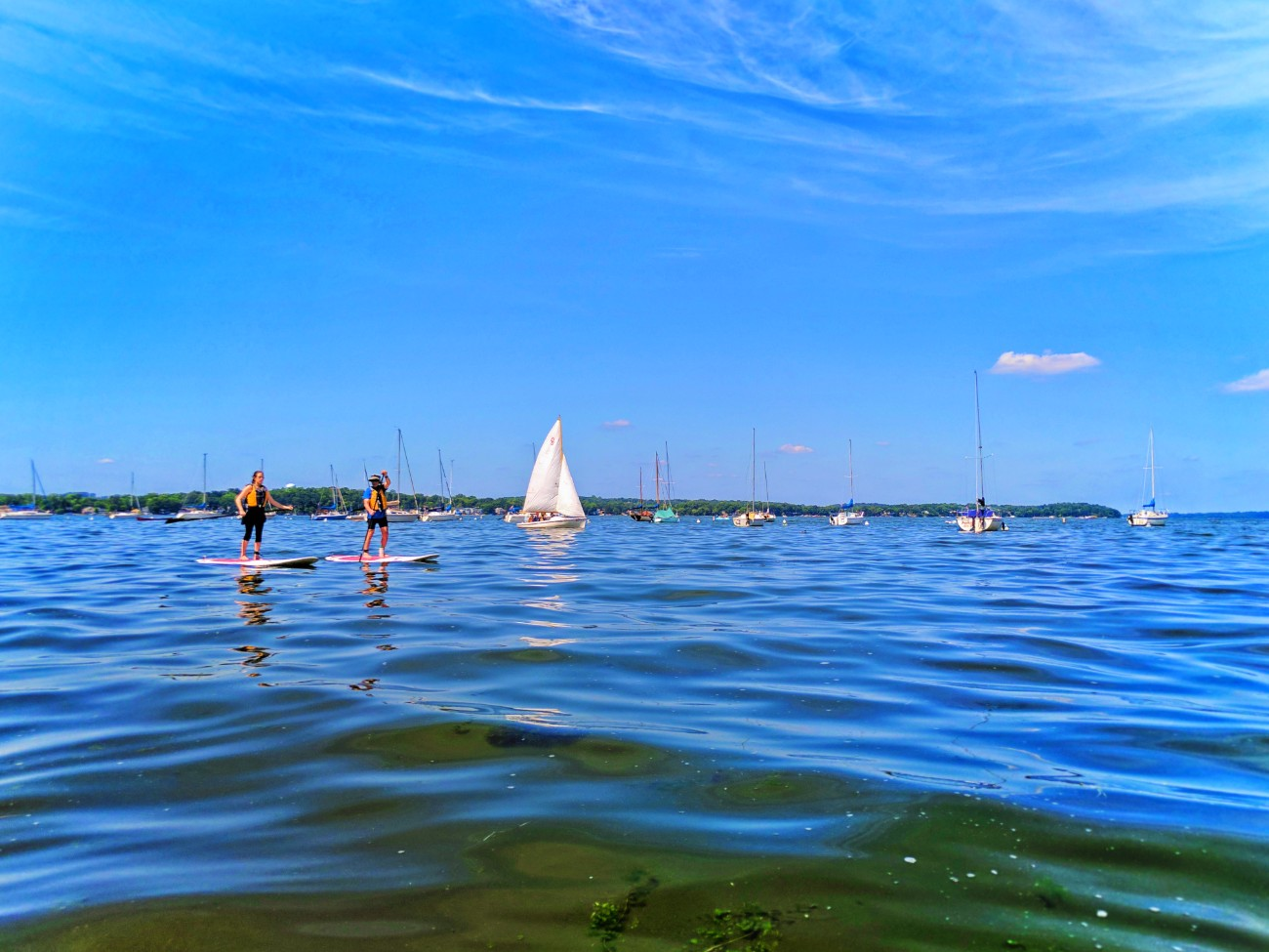 Stand Up Paddleboarding Sup On Lake Mendota Madison