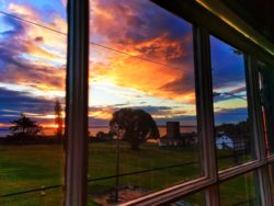 Sunrise from Barrack apartment at Fort Worden Conference Center Port Townsend 1
