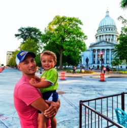 Taylor Family at Capitol Building Madison Wisconsin 4