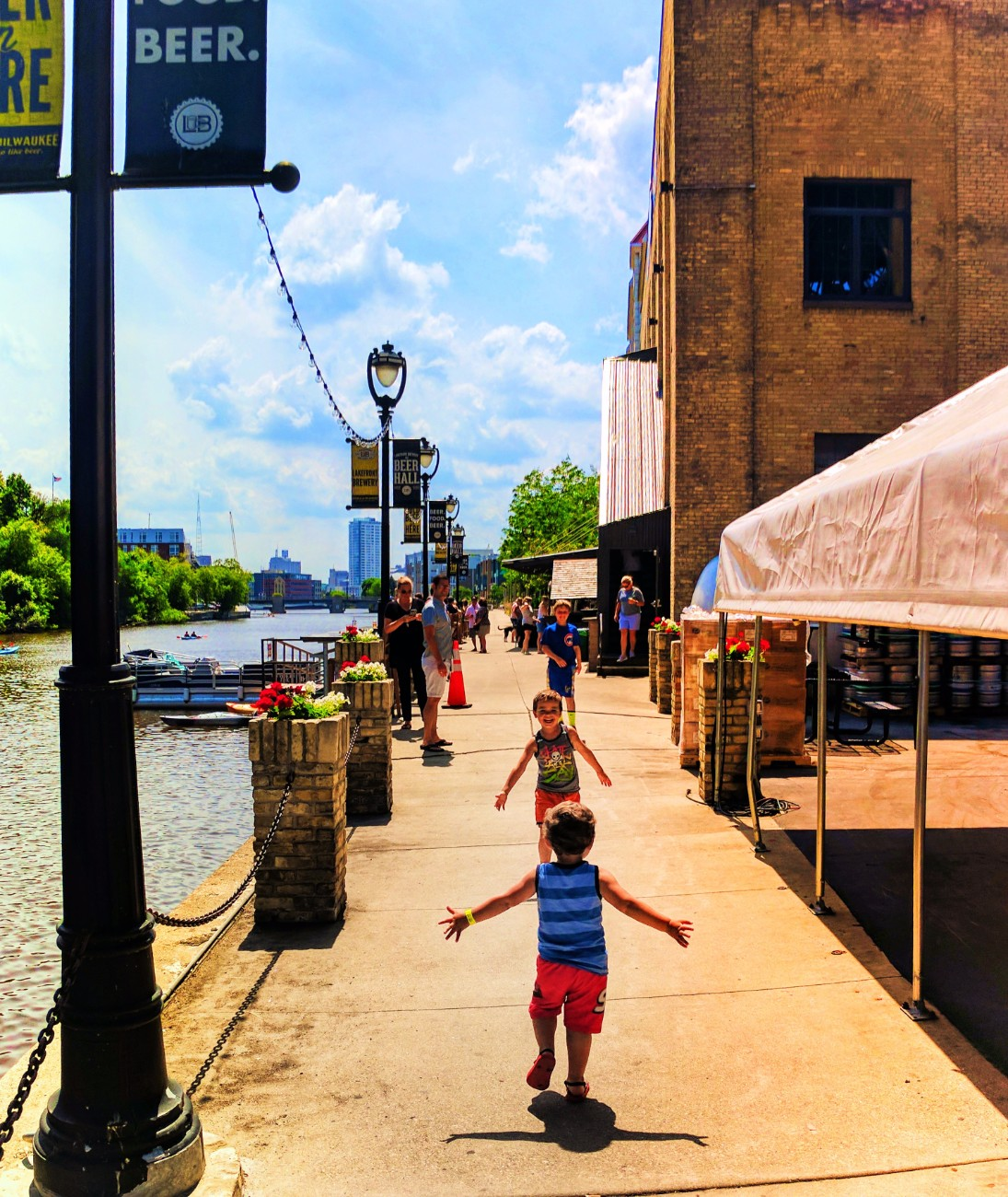 Wisconsin Waterfront Property In Milwaukee Cudahay: Taylor Family At Lakefront Brewing Co Milwaukee Wisconsin