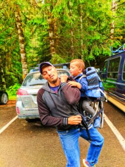 Taylor Family hiking at Sol Duc Olympic National Park 1