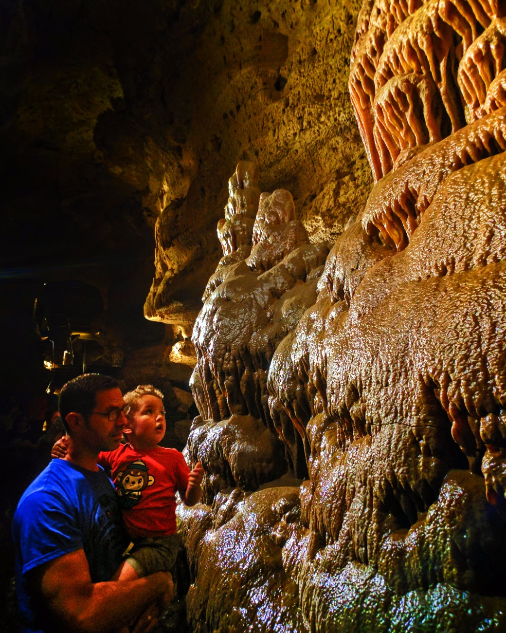 Taylor Family in Cave of the Mounds Mt Horeb Wisconsin 1
