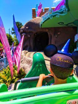 Taylor Family on Alice in Wonderland Fantasyland Disneyland 1