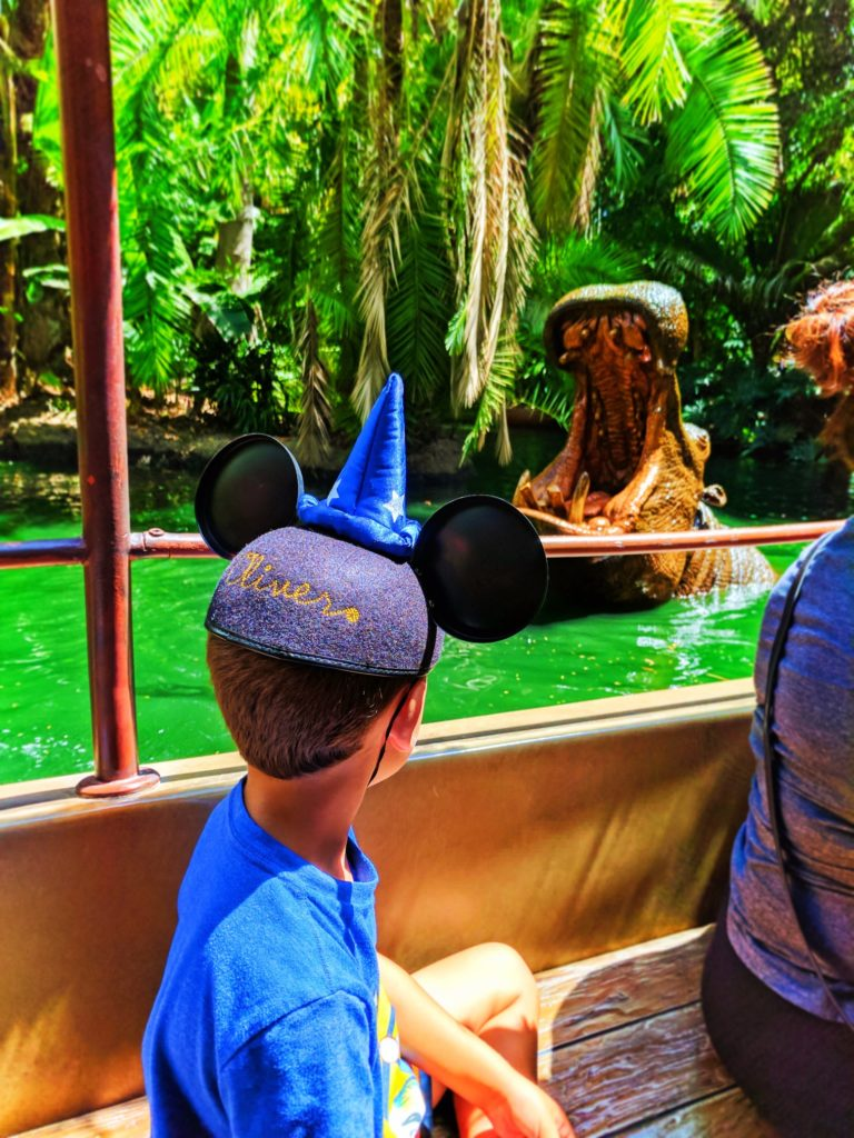 Taylor Family on Jungle Cruise Adventureland Disneyland 2