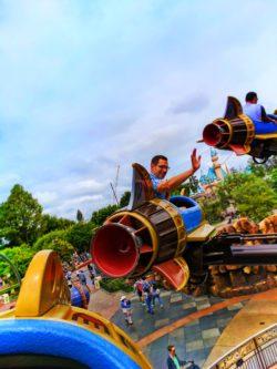 Taylor Family on Rockets in Tomorrowland Disneyland 1