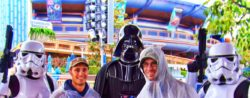 Taylor Family with Darth Vader and Storm Troopers Tomorrowland Disneyland 1