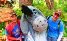 Taylor Family with Eeyore in Critter Country Disneyland 1