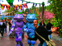 Taylor family with Bugs Life Characters