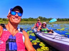 Taylor family kayaking with Wingra Boats Madison Wisconsin 11