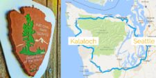 Map of Kalaloch Olympic National Park from Seattle