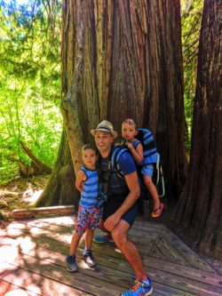 Taylor Family hiking Grove of the Patriarchs Mt Rainier National Park 1