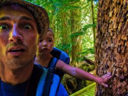 Taylor Family hiking Grove of the Patriarchs Mt Rainier National Park 15