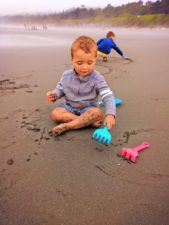 Taylor Family on beach at Kalaloch campground Olympic National Park 7
