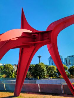 View of Space Needle from Olympic Sculpture Park Seattle 1