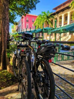 Bikes in Plaza Princessa in Old San Juan Puerto Rico 1