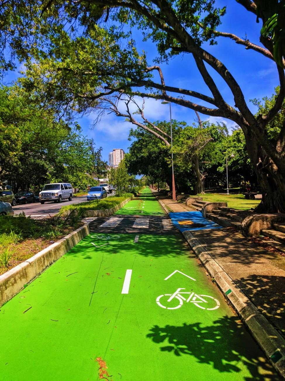 Biking on bike path San Juan Puerto Rico 1