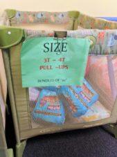 Bins of Pullups at WestSide Baby National Diaper Bank Network Huggies 2