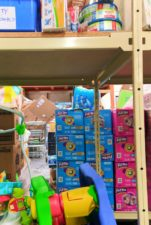 Boxes of Diapers at WestSide Baby National Diaper Bank Network Huggies 3