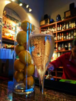 Cava and Lemons in bar in Old San Juan Puerto Rico 1