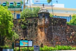 End of City Wall in Plaza Princessa Old San Juan Puerto Rico 1