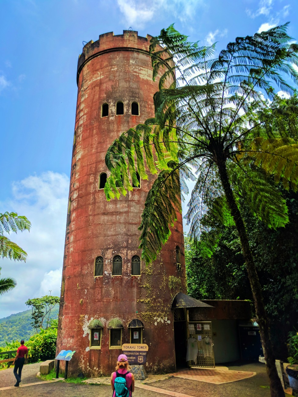 Historic Yokahu tower in Rainforest El Yunque National Forest Puerto Rico 5