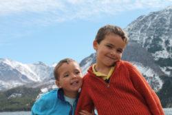 Taylor Family at Rising Sun area St Mary Lake Glacier National Park