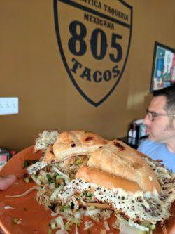 Queso Fundido Torta at Tacos 805 Santa Maria Valley
