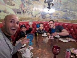 Taylor family at the Madonna Inn San Luis Obispo