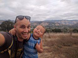 Taylor family Hiking Cerro San Luis Obispo 1