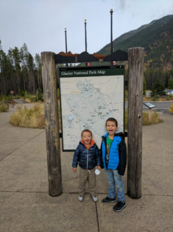 Taylor Family at Apgar Glacier National Park Visitors Center