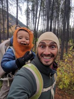 Taylor Family on nature trail to Lake McDonald Glacier National Park
