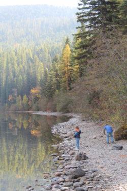 Taylor Family at Bowman Lake Glacier National Park