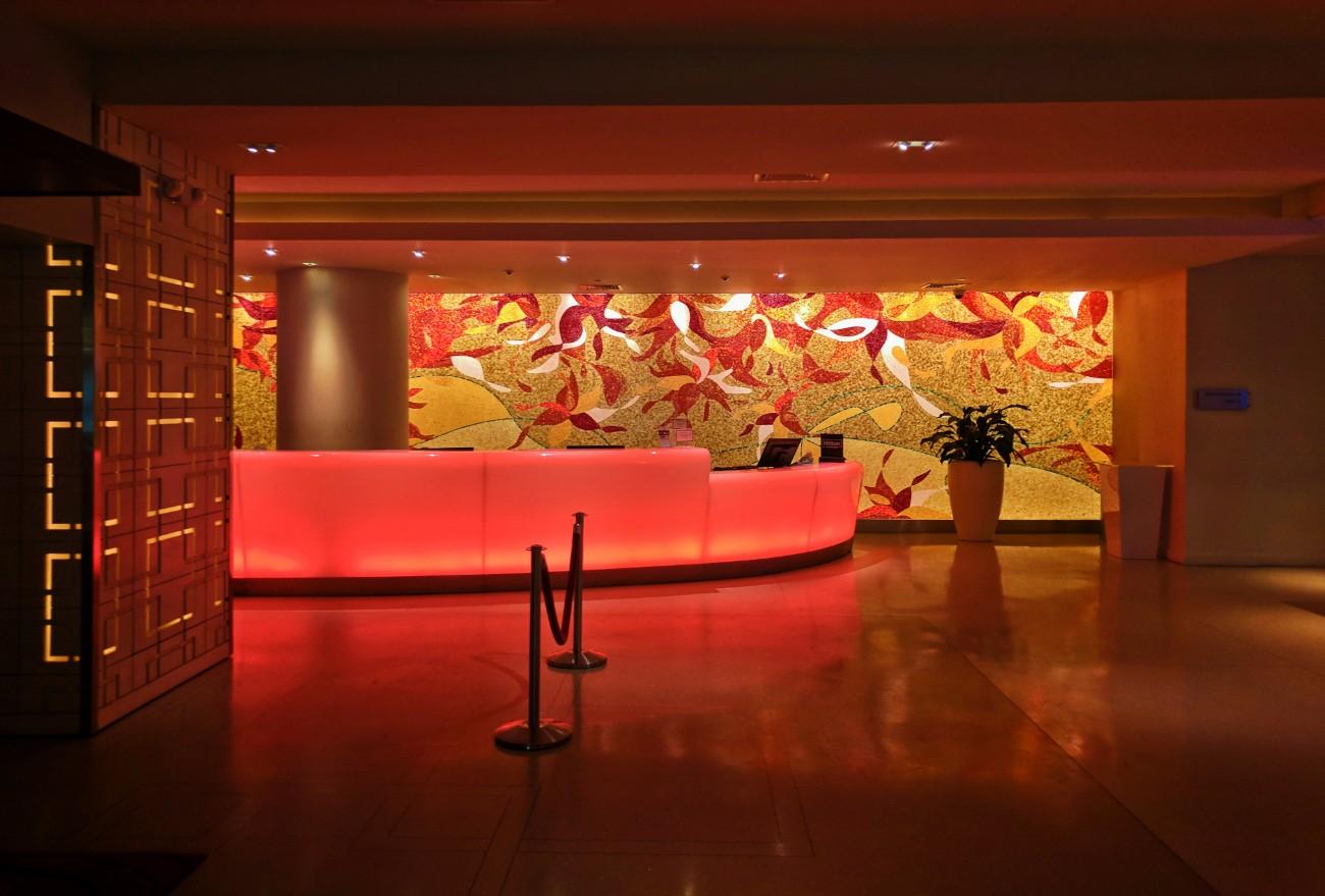 Lobby of Condado Plaza Hilton San Juan Puerto Rico at night 1